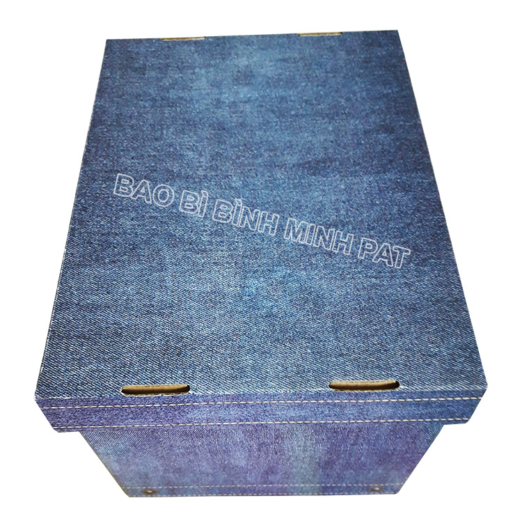 Fashionable luxury custom paper clothing jean packaging box - img05