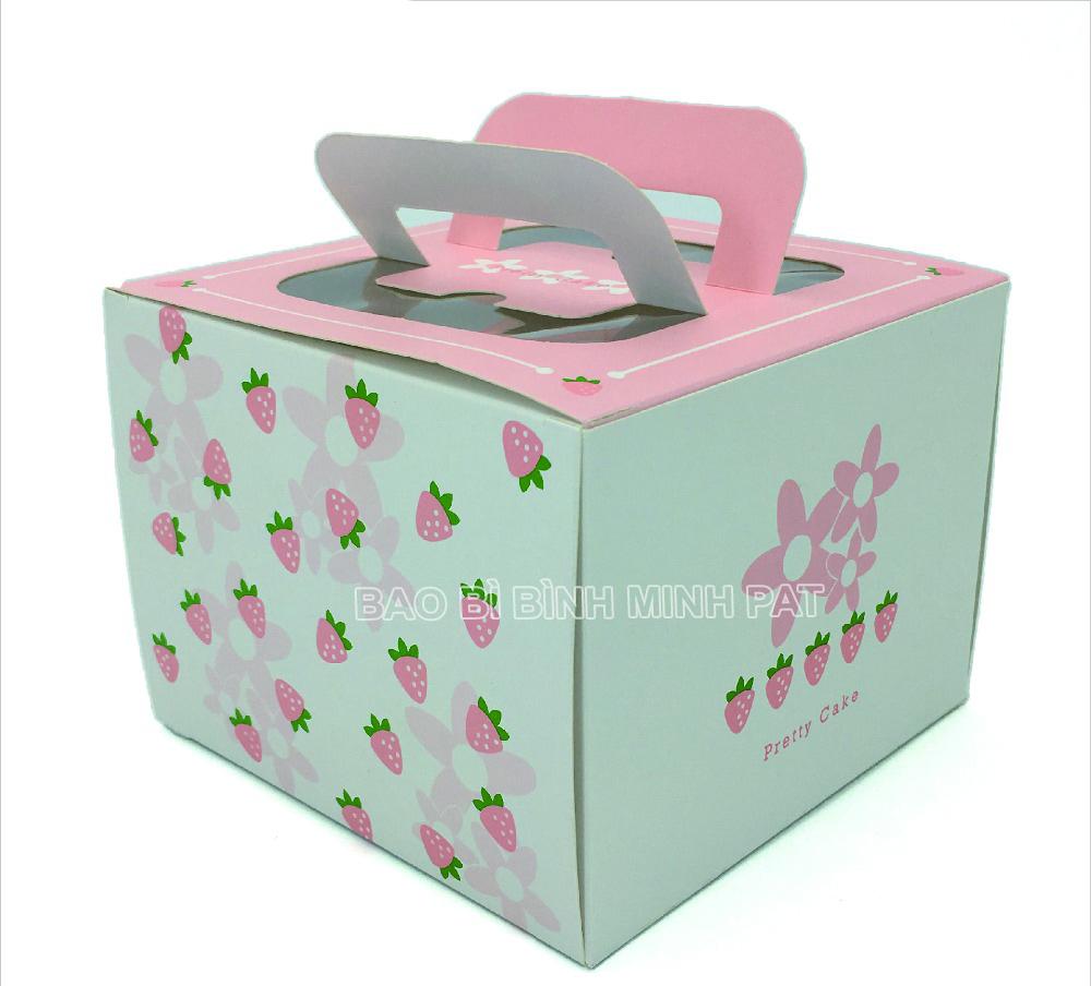 Custom Luxury Fashion Foldable Large Paper Square Birthday Cake Box