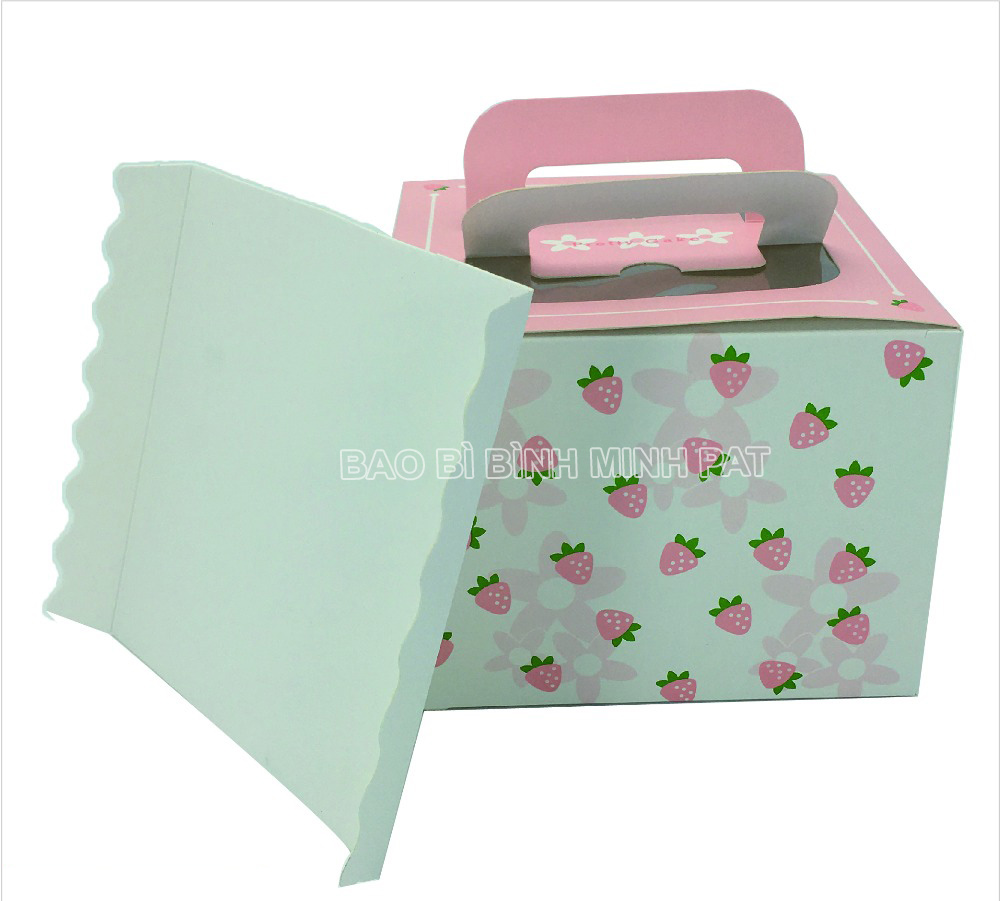 Custom Luxury Fashion Foldable Large Paper Square Birthday Cake Box - img04