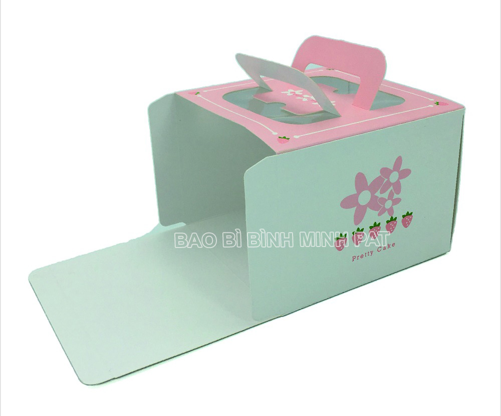 Custom Luxury Fashion Foldable Large Paper Square Birthday Cake Box - img05