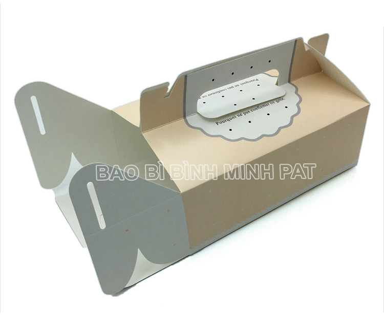 Mini cake box packaging paper box with handle - image03