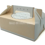 Mini cake box packaging paper box with handle