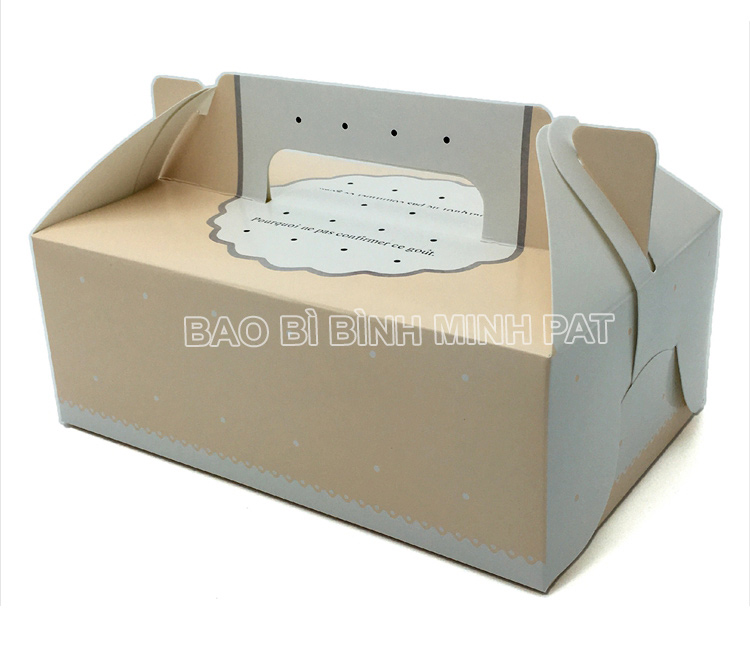 Mini cake box packaging paper box with handle - image04