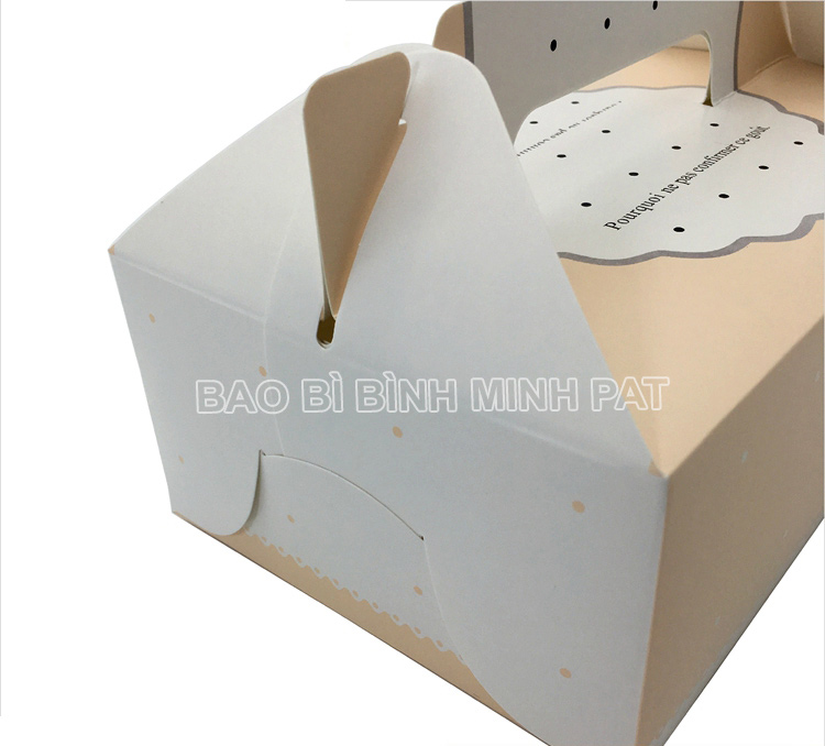 Mini cake box packaging paper box with handle - image06