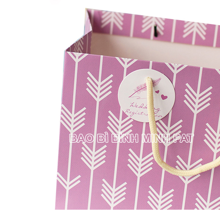 Exclusive bag for gift wedding cotton rope paper bag of gifts - img02