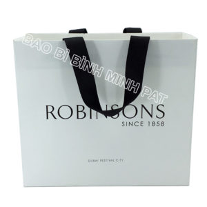 Festival brand custom logo shopping bag paper handle bags - img01