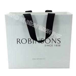 Festival brand custom logo shopping bag paper handle bags - img01