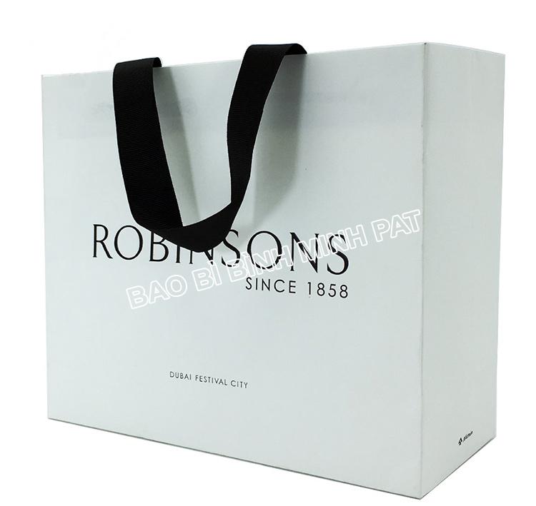 Festival brand custom logo shopping bag paper handle bags - img02
