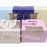 Corrugated Paper Cake Packaging Box with Handles