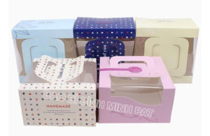 Corrugated Paper Cake Packaging Box with Handles - img02