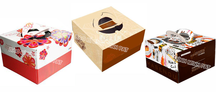 Corrugated Paper Cake Packaging Box with Handles - img04