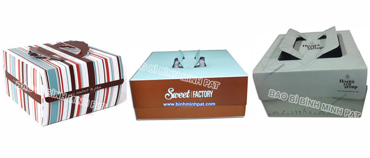 Corrugated Paper Cake Packaging Box with Handles - img05