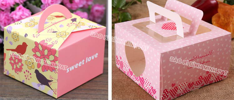 Corrugated Paper Cake Packaging Box with Handles - img07