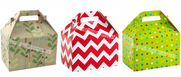 Corrugated Paper Cake Packaging Box with Handles - img08