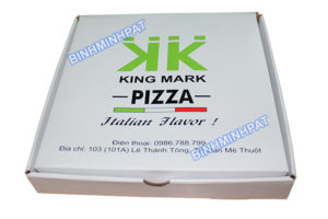 Custom size corrugated paper pizza box - img-05