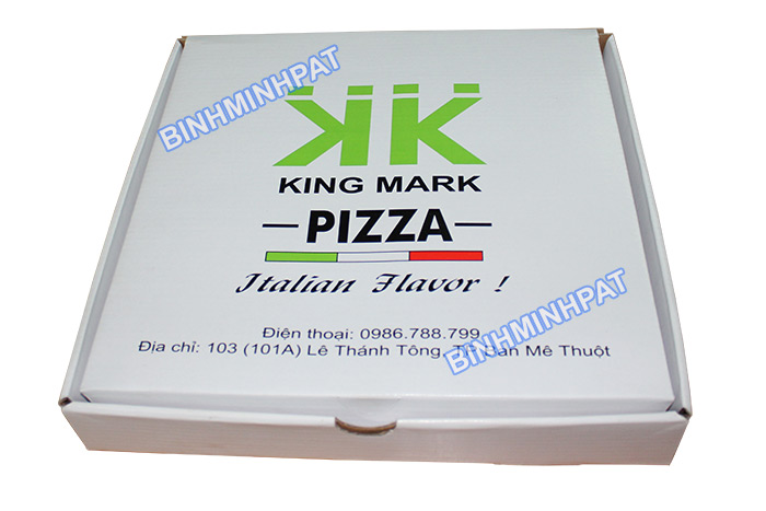 King Mark pizza box, Custom size corrugated paper pizza box