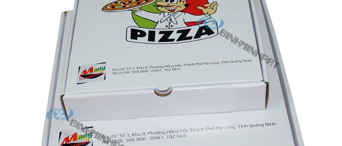 Custom size paper pizza box for food packaging - img1