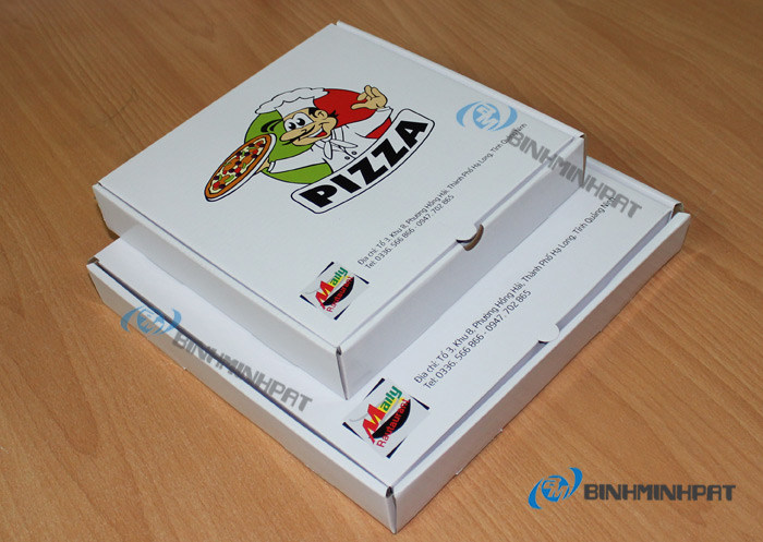 Custom size paper pizza box for food packaging - img2
