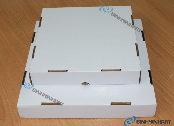 Custom size paper pizza box for food packaging - img3