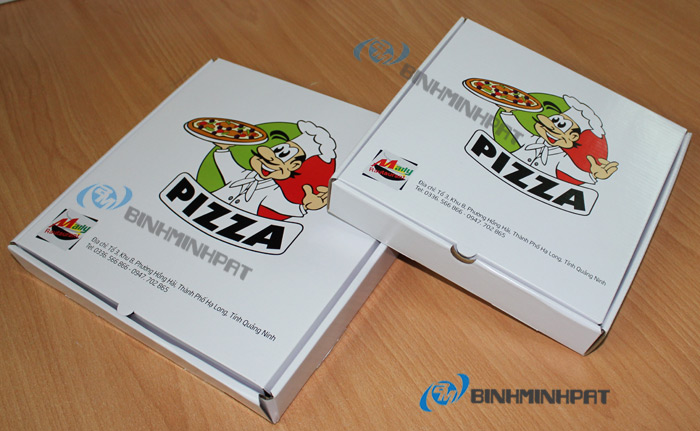 Custom size paper pizza box for food packaging - img4