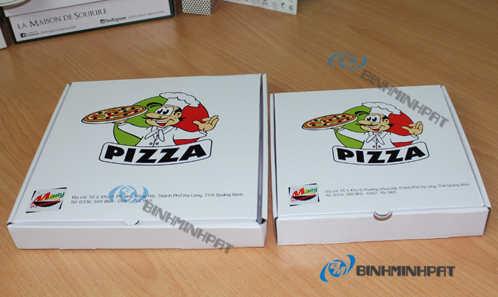 Custom size paper pizza box for food packaging - img5