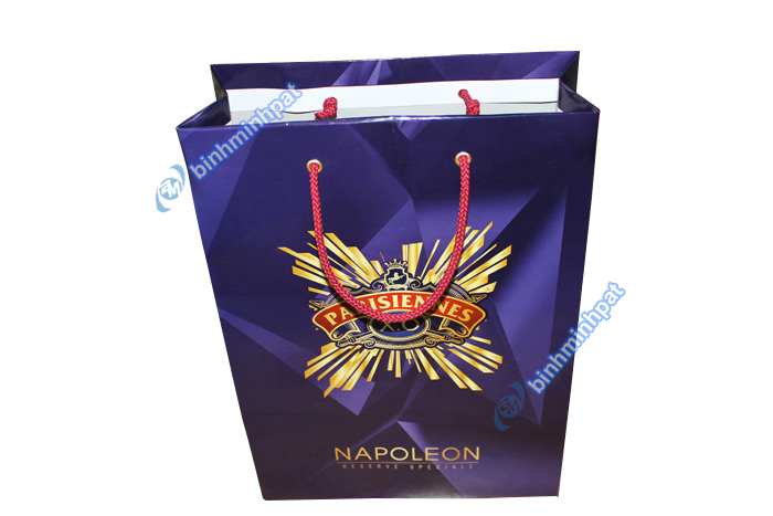 Manufacturer custom made luxury cheap paper wine bags