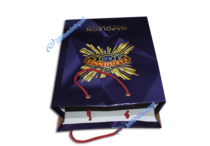 Manufacturer custom made luxury cheap paper wine bags - img01