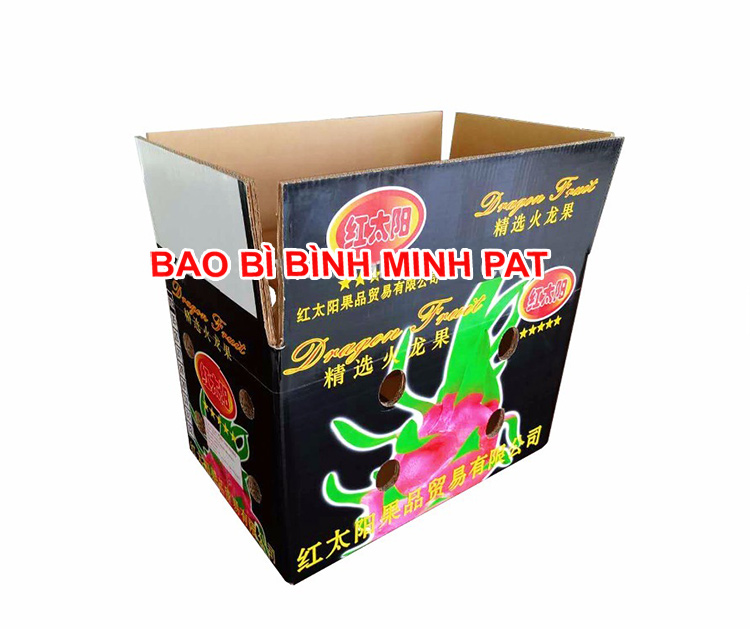 Vietnam Fresh Dragon Fruit Packaging Carton Box - IMG02