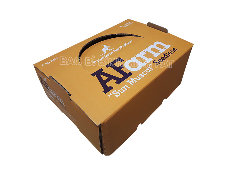 Corrugated paper color printing Grape packaging box - img02