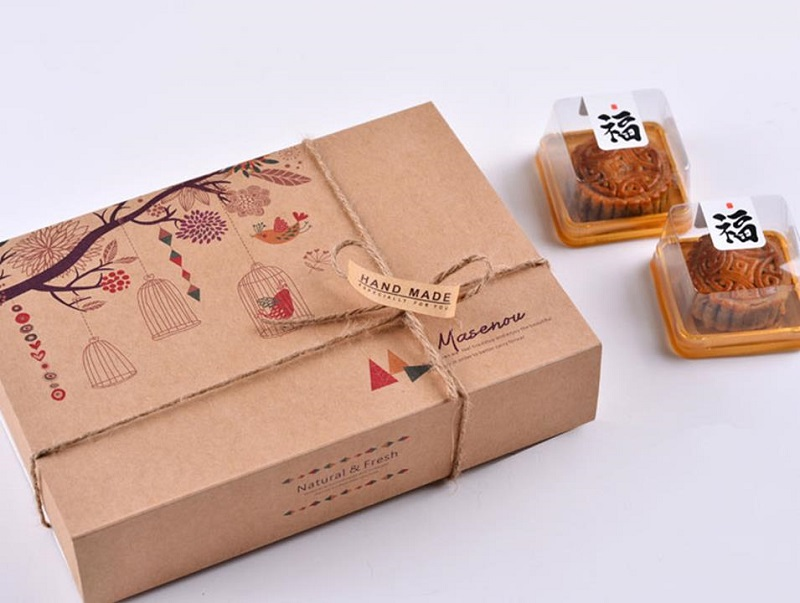 Mooncake paper box with Kraft paper materials